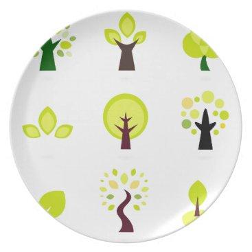 Professional Business Bio trees original drawing : Tshirts Plate