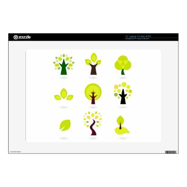Professional Business Bio trees original drawing : Tshirts Skin For Laptop