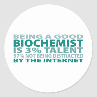 Biochemist 3% Talent Classic Round Sticker