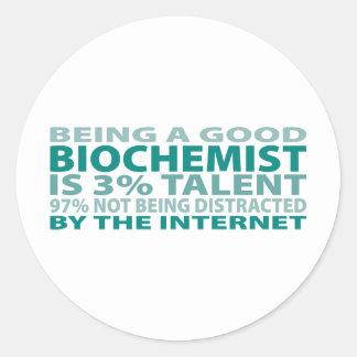 Biochemist 3% Talent Classic Round Sticker