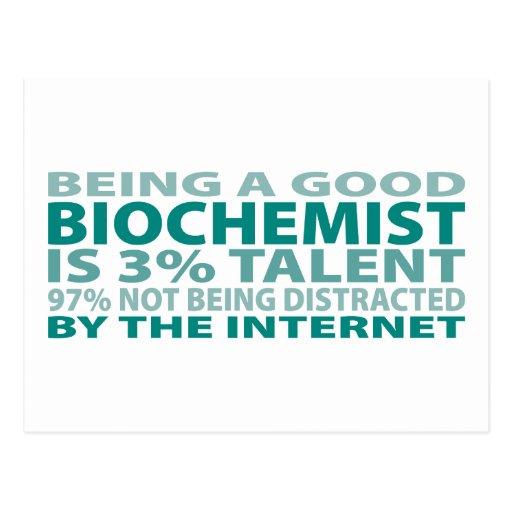Biochemist 3% Talent Postcard
