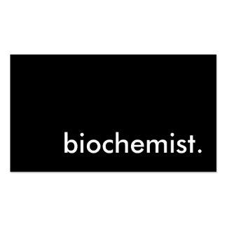 biochemist. business card