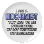 Biochemist Joke ... Superior Intelligence Dinner Plates