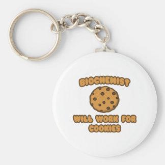 Biochemist .. Will Work for Cookies Keychain