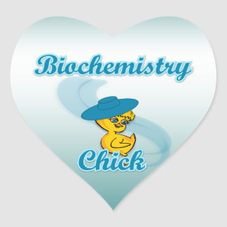 Biochemistry Chick #3 Heart Sticker