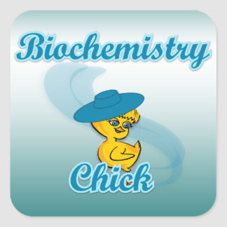 Biochemistry Chick #3 Square Sticker