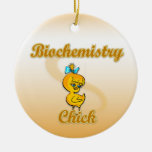 Biochemistry Chick Double-Sided Ceramic Round Christmas Ornament