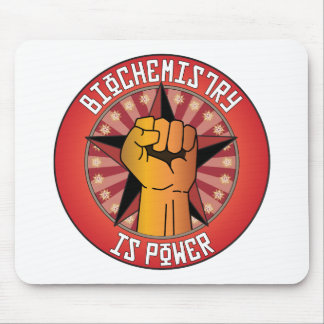 Biochemistry Is Power Mouse Mat