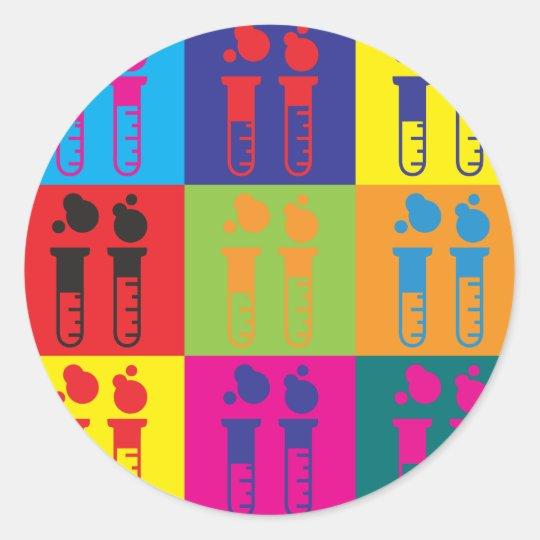 Biochemistry Pop Art Classic Round Sticker