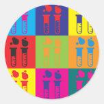 Biochemistry Pop Art Round Sticker
