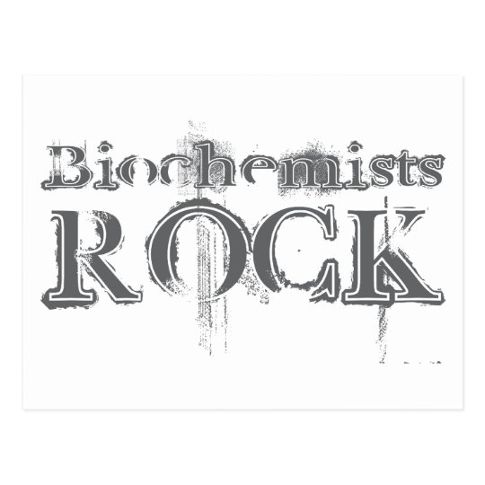 Biochemists Rock Postcard