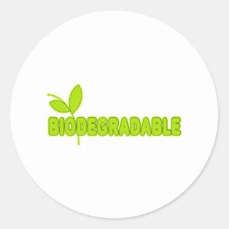 Biodegradable Pegatina Redonda