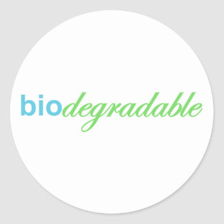 Biodegradeable Classic Round Sticker