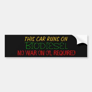 Biodiesel Car Bumper Sticker