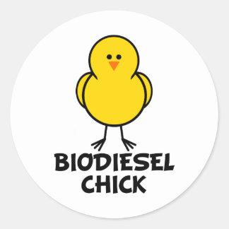 Biodiesel Chick Classic Round Sticker