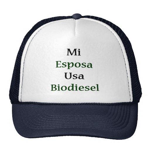 Biodiesel del MI Esposa los E.E.U.U. Gorras De Camionero