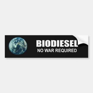 Biodiesel Ninguna guerra requerida Pegatina De Parachoque