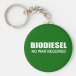 Biodiesel: No War Required Basic Round Button Keychain