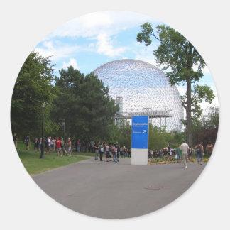 Biodome Montreal Classic Round Sticker