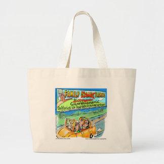 Biodynamic Farm? Funny Gifts Tees Cards Mugs Etc Large Tote Bag