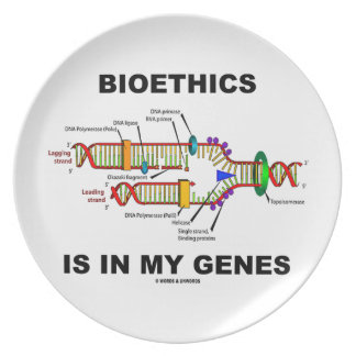 Bioethics Is In My Genes (DNA Replication) Dinner Plate