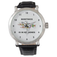 Bioethics Is In My Genes (DNA Replication) Wristwatch