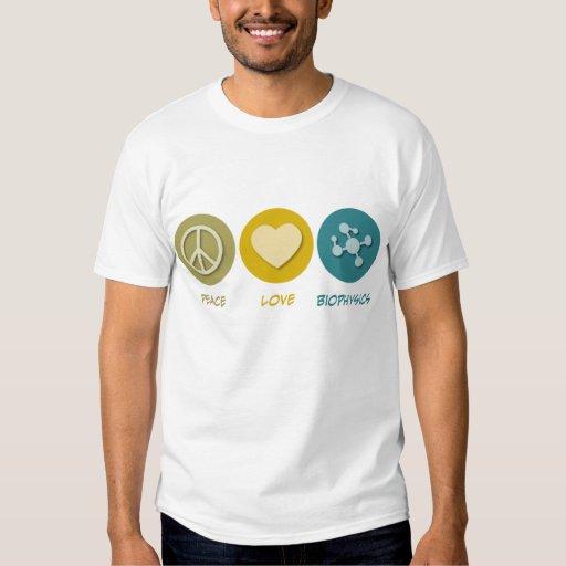 Biofísica del amor de la paz playeras