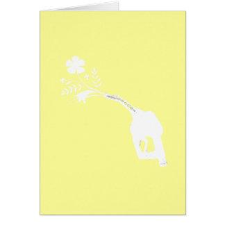 Biofuel Bouquet Greeting Card