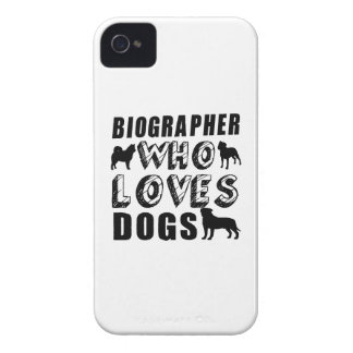biographer Who Loves Dogs iPhone 4 Cover