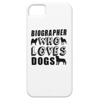 biographer Who Loves Dogs iPhone SE/5/5s Case