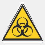 Biohazard 02 colcomanias de triangulo