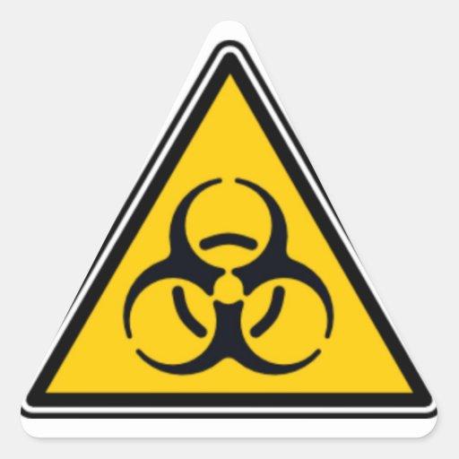 Biohazard 02 pegatina triangular