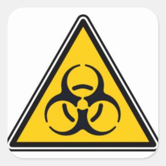 Biohazard 02 square sticker