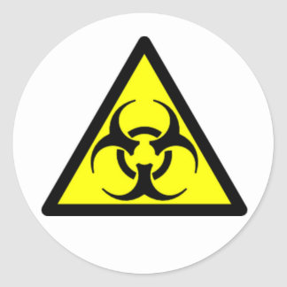 Biohazard 04 pegatina redonda