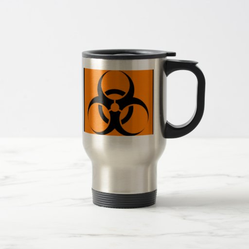 Biohazard 05 15 oz stainless steel travel mug