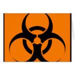 Biohazard 05 greeting card