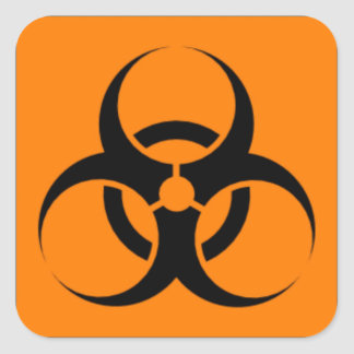 Biohazard 05 pegatina cuadrada