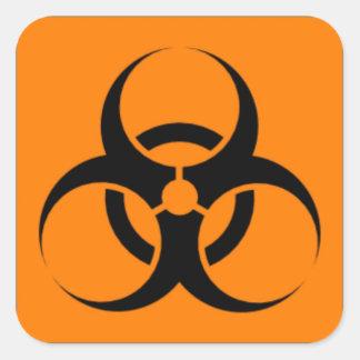 Biohazard 05 square sticker