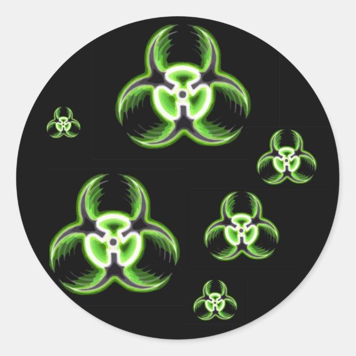 Biohazard 08 classic round sticker