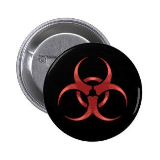 Biohazard 1 pin redondo de 2 pulgadas