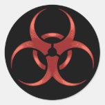 Biohazard 1 round stickers