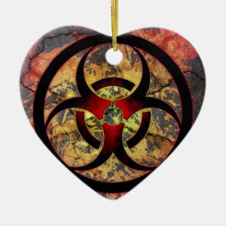 Biohazard Art Design Ceramic Ornament
