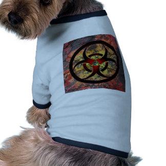 Biohazard Art Design Doggie Tee Shirt