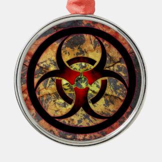 Biohazard Art Design Metal Ornament