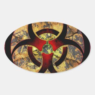 Biohazard Art Design Oval Sticker