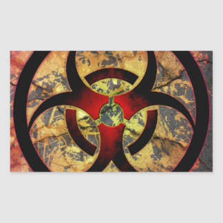 Biohazard Art Design Rectangular Sticker