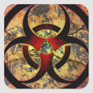 Biohazard Art Design Square Sticker