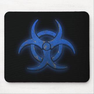 Biohazard azul alfombrilla de ratones