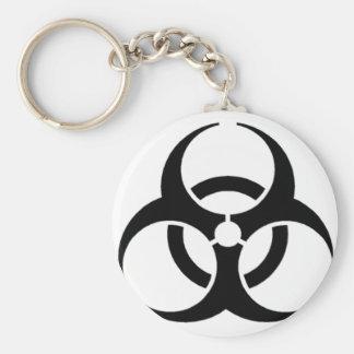 Biohazard Basic Round Button Keychain