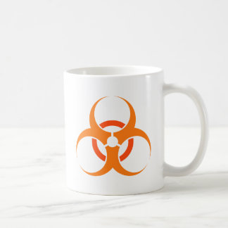 Biohazard biological hazard symbol orange coffee mug